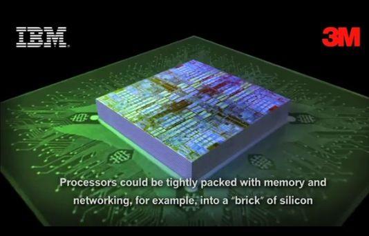 IBM y 3M unen fuerzas para la fabricación tipo sandwich (3D) de procesadores