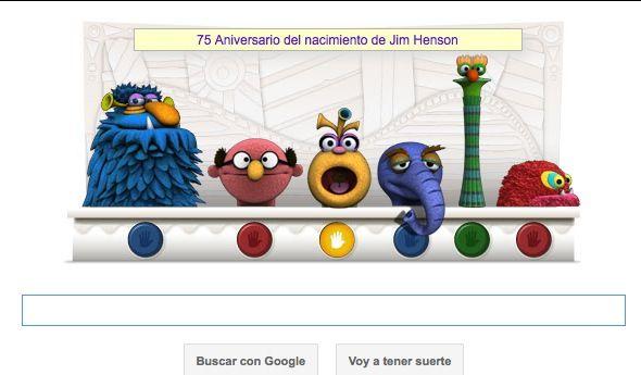 Google homenajea Jim Henson el creador de los Muppets