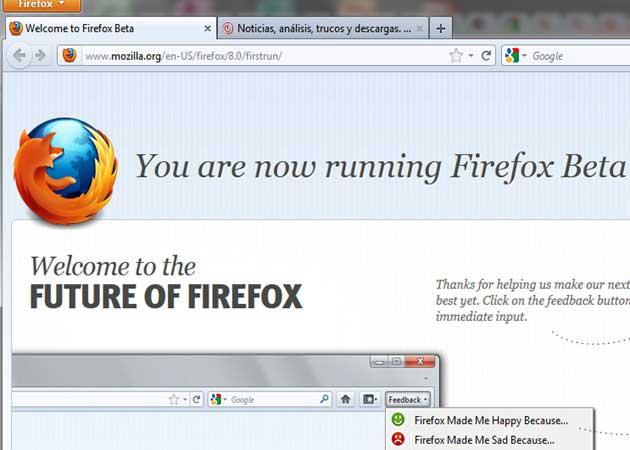 Firefox 8 beta, disponible