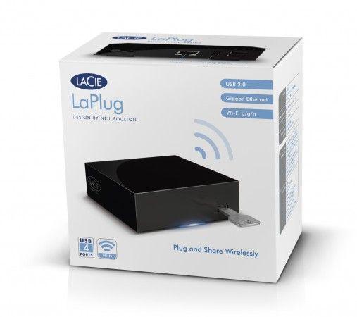 LaCie LaPlug, comparte inalámbricamente pendrives y HDs USB