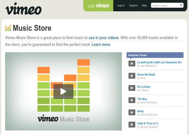 Vimeo estrena tienda de música
