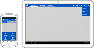 Aplicaciones compatibles tanto con tablet como con smartphone