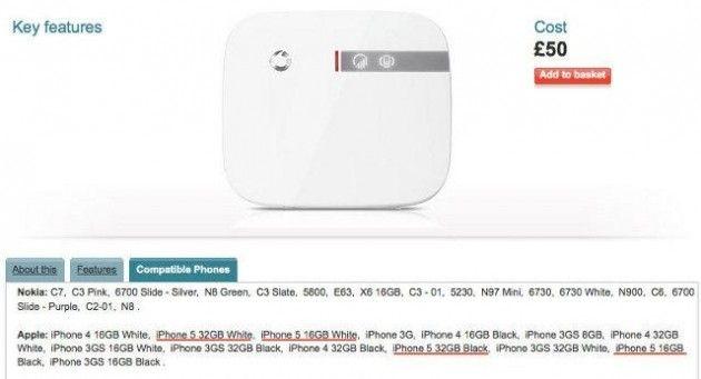 iPhone 5: capacidades de 16 y 32 Gbytes, negro y blanco