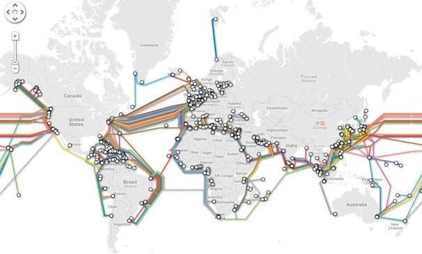 """El """"mapa de metro"""" de los cables submarinos de Internet"""