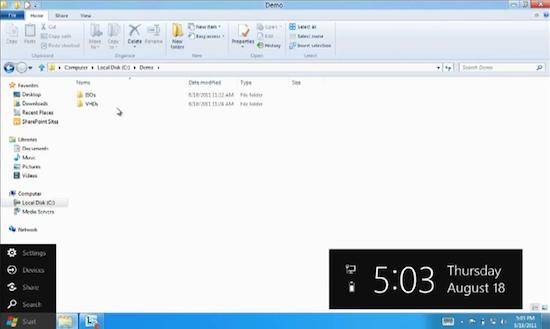 Primer vistazo al renovado Menú Inicio de Windows 8