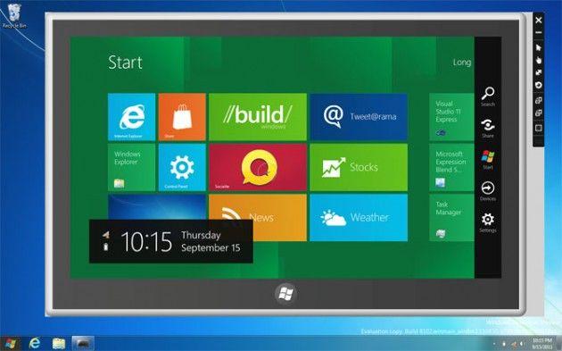 Windows 8 DP instalado pero no tengo pantalla táctil, ¿ahora qué?