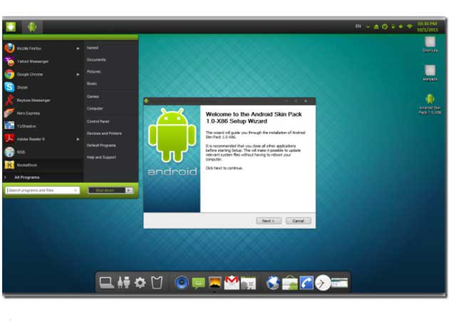 Android Skin Pack, Windows 7 con sabor a Android