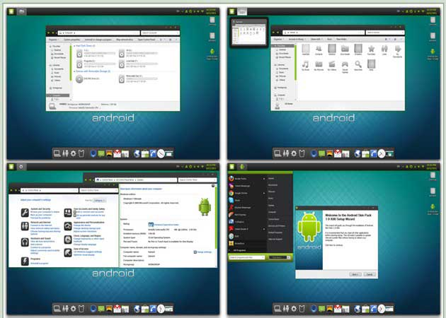 Android Skin Pack, Windows 7 con sabor a Android 30