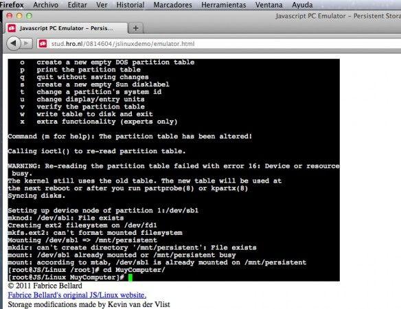 Captura de pantalla 2011 10 09 a las 19.20.45 584x450 Ejecuta Linux en tu navegador gracias a HTML5 y JavaScript
