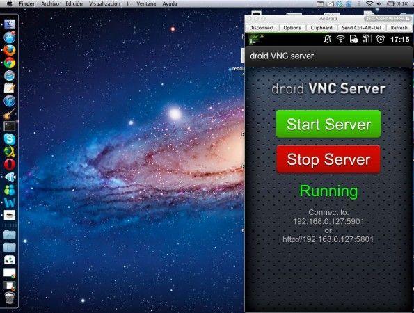 Conexión droid VNC Server