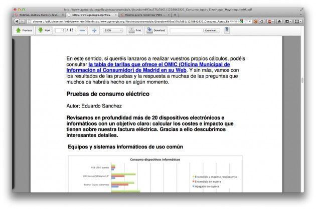 Primer vistazo al visor de PDF integrado en Firefox -PDF.js- 30