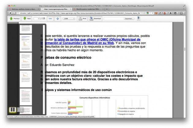 Primer vistazo al visor de PDF integrado en Firefox -PDF.js- 33