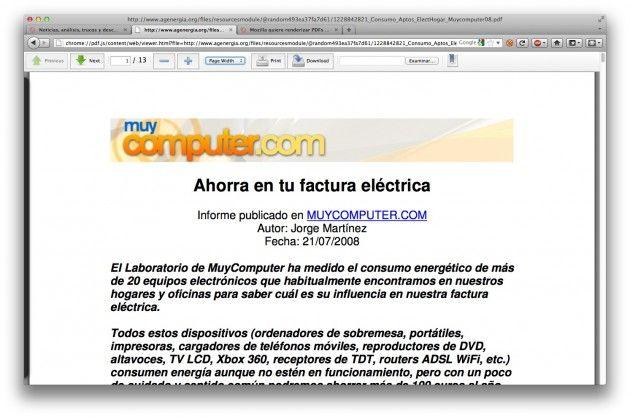 Primer vistazo al visor de PDF integrado en Firefox -PDF.js- 31