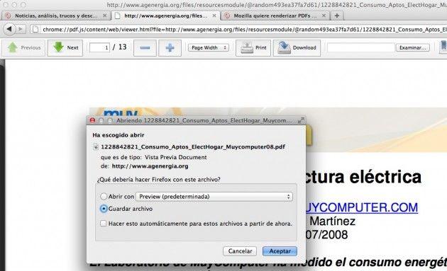Primer vistazo al visor de PDF integrado en Firefox -PDF.js- 32