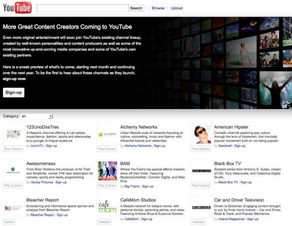 YouTube emitirá más de 100 canales on-line, llega el cable de Google por Internet