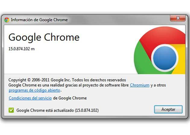Google Chrome 15 ya es estable destacando el rediseño de 'nueva ventana/pestaña' 29