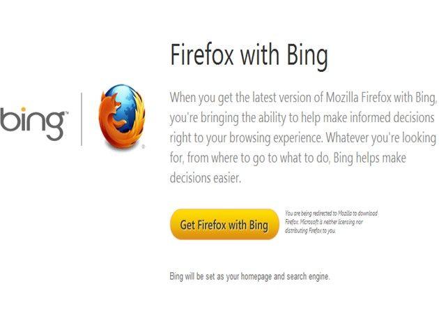 Mozilla y Microsoft publican un Firefox con Bing ¿Google enfadado?