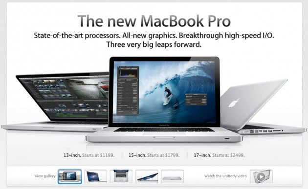 Apple actualiza su línea MacBook Pro