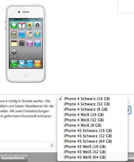 Más indicios de modelos de 64 Gbytes en iPhone 4S y iPhone 5
