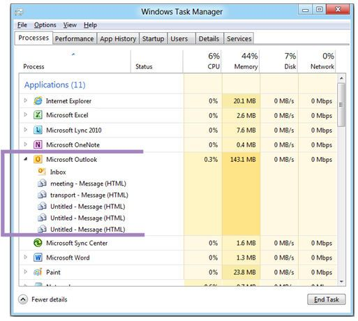 Microsoft muestra el administrador de tareas de Windows 8 y nos gusta 40