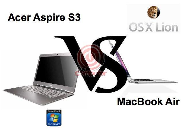 Comparativa Acer Aspire S3 vs MacBook Air (VIDEO)