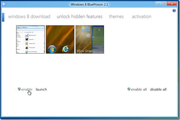 Descubre características ocultas en Windows 8 con BluePoison 29