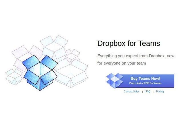 Dropbox for Teams, soporte multiusuario profesional para Dropbox