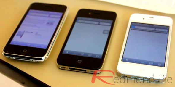Comparativa de rendimiento iPhone 4S , iPhone 4 y iPhone 3GS