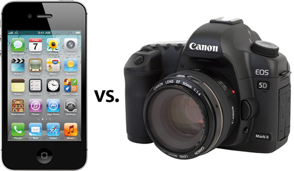 Calidad de vídeo de iPhone 4S, comparado con una Canon 5D MKII