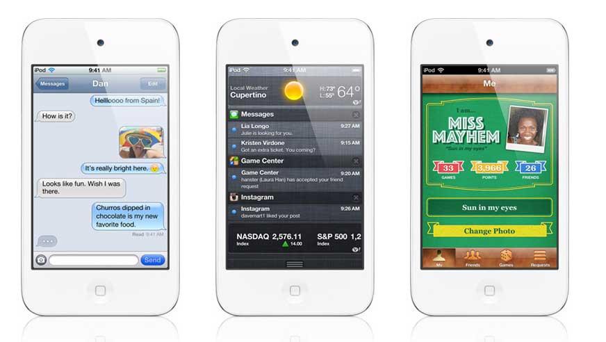 Apple lanza nuevos modelos del iPod nano y del iPod touch