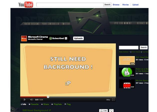 El canal de vídeos de Microsoft en YouTube, hackeado
