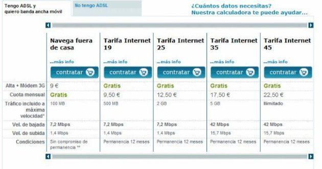 Si eres cliente Movistar ADSL tienes derecho a módem y datos 3G gratis 32
