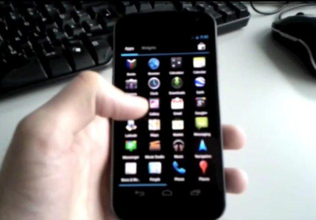 Nexus Prime pillado con Ice Cream Sandwich  (VIDEO)