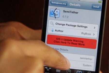 Semitethered jailbreak en iOS 5 actualizado: estabilidad y acceso a Safari