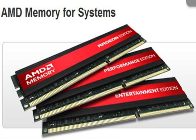 AMD anuncia lanzamiento internacional y en retail de sus memorias RAM DDR3