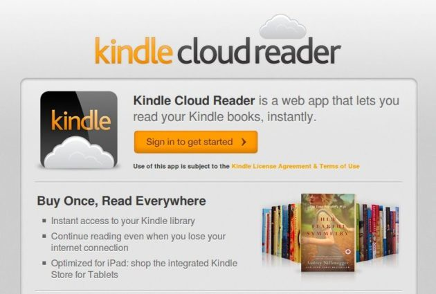Kindle Cloud Reader, lector en la nube de eBooks