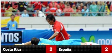 empate españa costarica