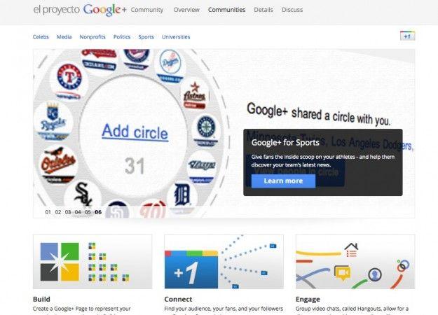 Google+ ayuda a las empresas, famosos y medios a sacar jugo de su red social