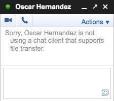 Error Google chat