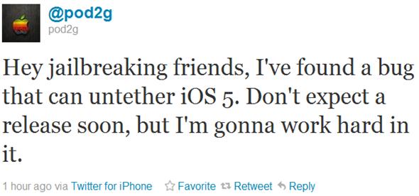 Jailbreak untethered en iOS 5 iPhone, iPod touch y iPad más cerca 37
