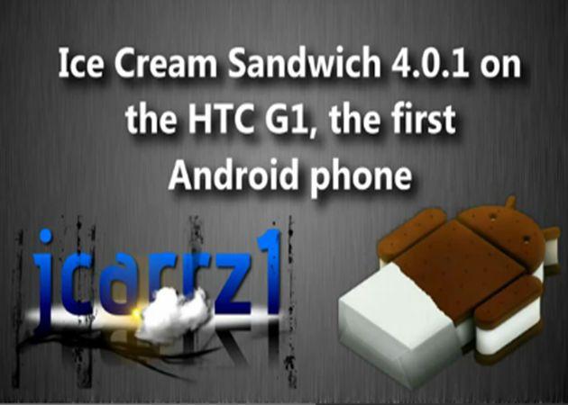 Android 4.0 portado en el primer terminal con Android HTC Dream 34