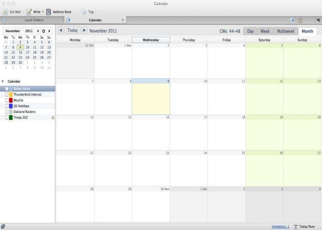 Lightning, el calendario de Mozilla Thunderbird, llega a su versión 1.0