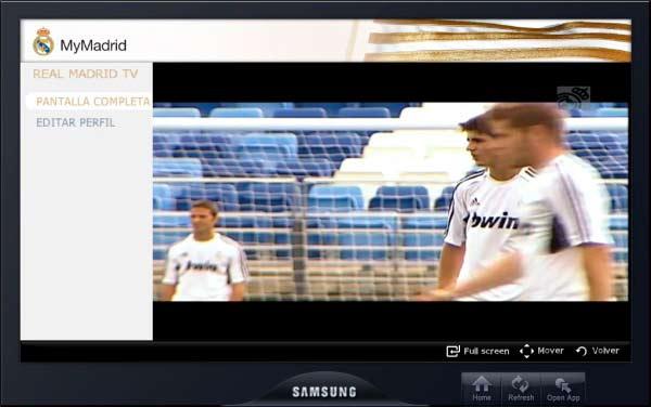 MyMadrid, contenidos sobre el Real Madrid en Samsung Smart TV