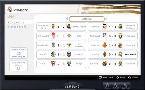 MyMadrid, contenidos sobre el Real Madrid en Samsung Smart TV 28