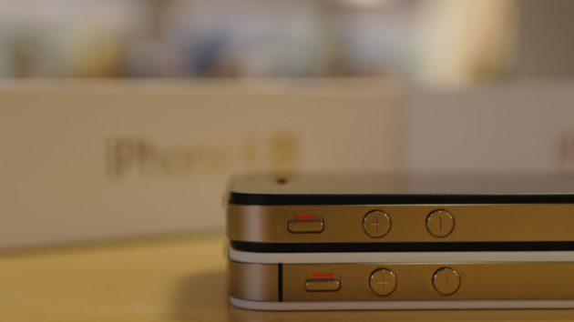 iPhone 4S vs iPhone 4 - detalle diferencia