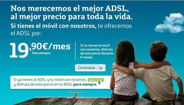 Movistar no se resigna: ADSL 10 megas a 19,90 euros