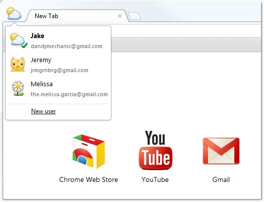 Google Chrome Beta añade soporte multiusuario 31