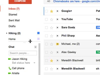 Google implanta el look Google+ a Gmail y resto de servicios