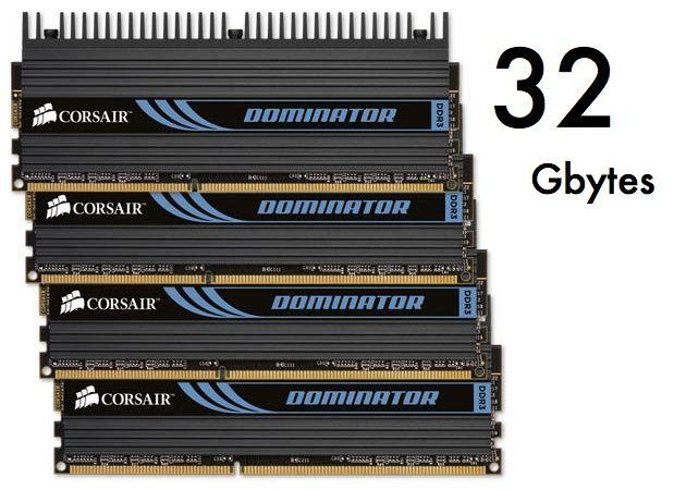 Corsair lanza kits DDR3 Dominator y Vengeance de 32 Gbytes