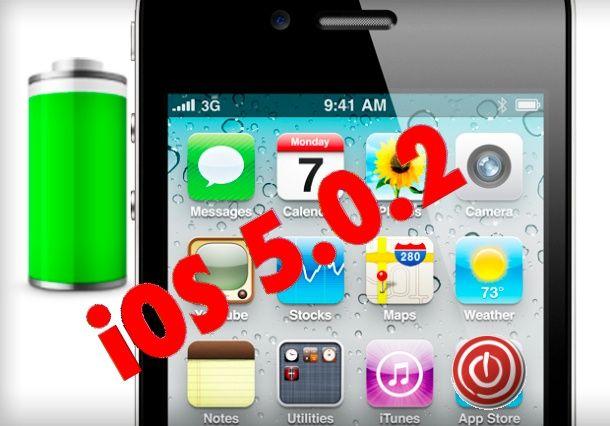 iOS 5.0.2 solucionará definitivamente los problemas de batería de iPhone 4S